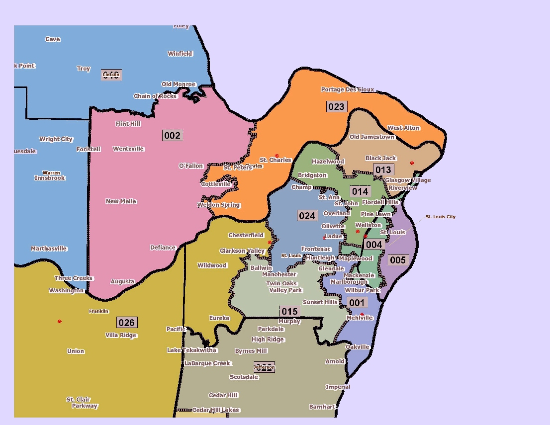 St. Louis Area State Senate Districts
