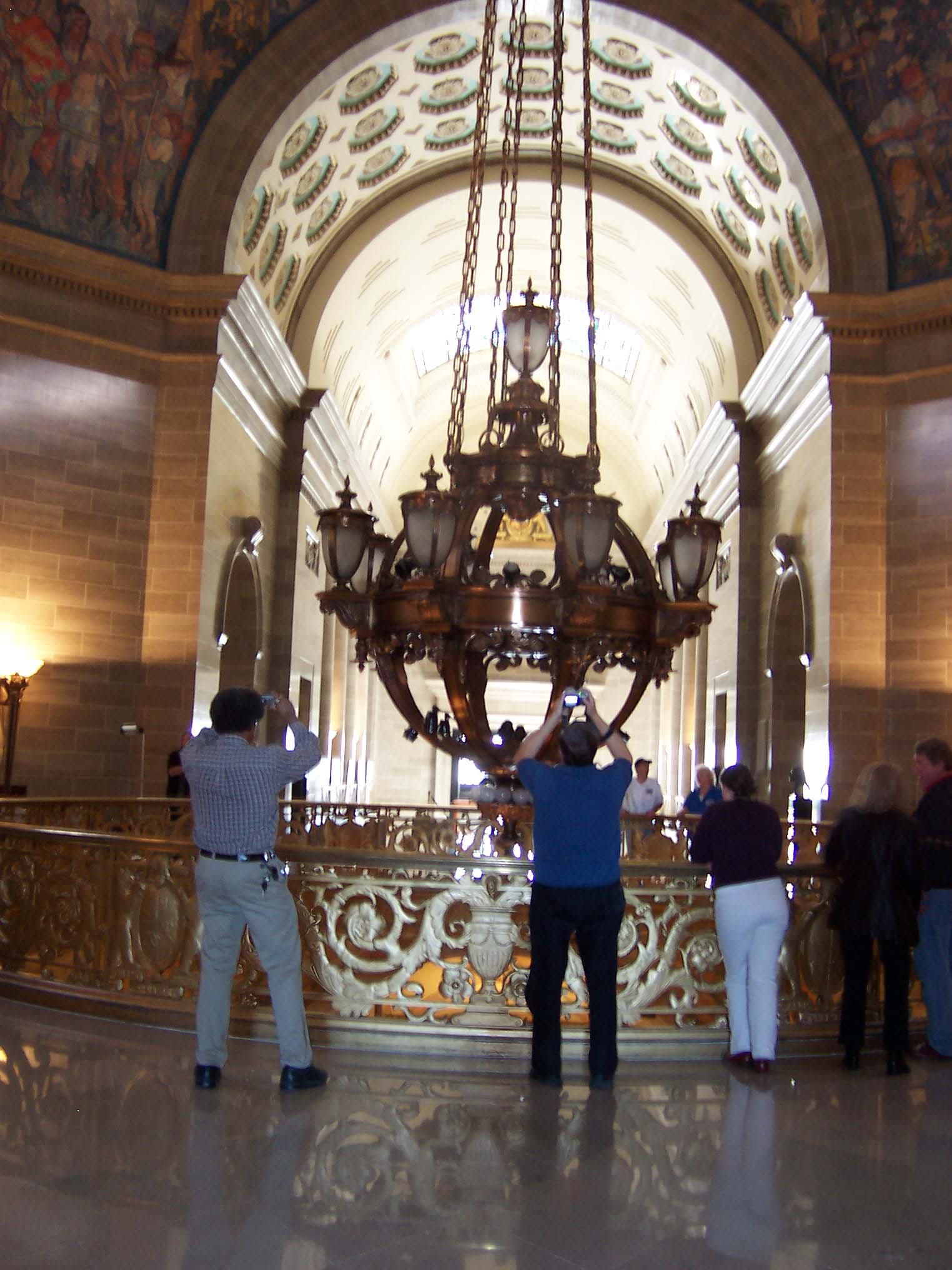 Capitol chandelier raised almost a year after falling